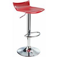 Blazar Red Bar Stool Height Adjustable