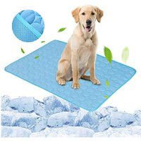 Blue Pet Dog Puppy Self Cooling Mat Cushion Summer Cool Bed, S - LIVINGANDHOME