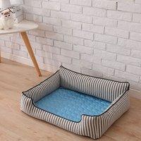 Blue Pet Dog Puppy Self Cooling Mat Cushion Summer Cool Bed, S