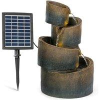 Mantua Cascade Fountain Solar Fountain Garden Fountain 4 Levels Battery Operation
