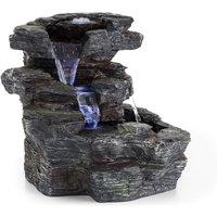 Rochester Falls Garden Fountain IPX8 6W Polyresin 3 LEDs Stone Look