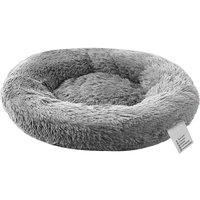 Soft Plush Round Pet Bed Cat Soft Bed Cat Bed, Light grey-diameter 100cm - Blusea