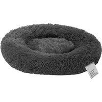 Blusea Soft Plush Round Pet Bed Cat Soft Bed Cat Bed, Dark grey-diameter 100cm
