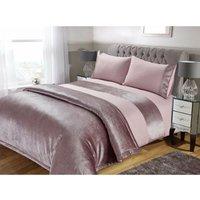 Blush Sparkle Velvet Duvet Set - Bedspread
