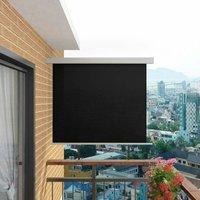 Bohrer Balcony Multi-Functional W 1.5m Retractable Side Awning by Black - Dakota Fields