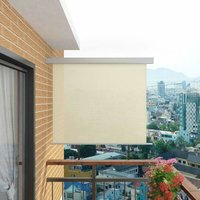 Bohrer Balcony Multi-Functional W 1.5m Retractable Side Awning by Cream - Dakota Fields