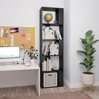 Book Cabinet/Room Divider Black 45x24x159 cm Chipboard - YOUTHUP