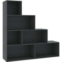 Book Cabinet/Room Divider 155x24x160 cm Chipboard Grey - Grey - Vidaxl