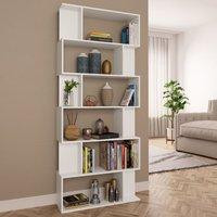 Book Cabinet/Room Divider White 80x24x192 cm Chipboard