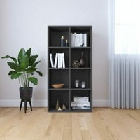 Book Cabinet/Sideboard Grey 66x30x130 cm Chipboard - YOUTHUP