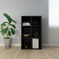 Youthup - Book Cabinet/Sideboard High Gloss Black 66x30x97.8 cm Chipboard