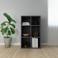Book Cabinet/Sideboard High Gloss Grey 66x30x97.8 cm Chipboard