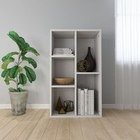 Book Cabinet/Sideboard High Gloss White 45x25x80 cm Chipboard - YOUTHUP