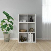 Book Cabinet/Sideboard High Gloss White 66x30x97.8 cm Chipboard