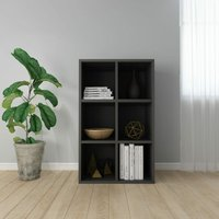vidaXL Book Cabinet/Sideboard 66x30x97.8 cm Chipboard Grey - Grey