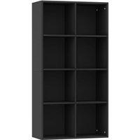 vidaXL Book Cabinet/Sideboard 66x30x130 cm Chipboard Grey - Grey