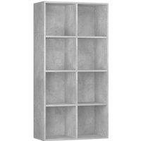 vidaXL Book Cabinet/Sideboard 66x30x130 cm Chipboard Concrete Grey - Grey