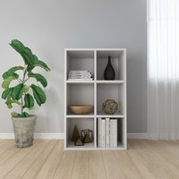 Book Cabinet/Sideboard White 66x30x97.8 cm Chipboard
