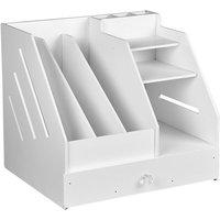 Asupermall - Book Magazine Holder Desk Organizer Stationery Storage Stand Shelf Rack Desktop File Rack Storage Artifact Multi-layer Large Capacity