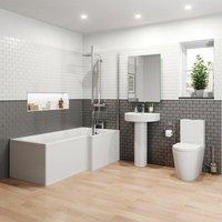 Bordeaux L Bathroom Suite - Right Hand - AFFINE