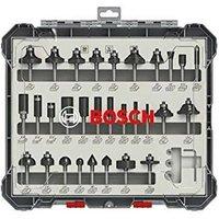Bosch 2607017476 30 Piece Mixed Router Bit Set Straight 1/4 Shank Cutter