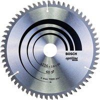 216mm x 30mm x 60T Wood Circular Saw Blade Optiline 2608640642 - Bosch