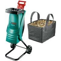 AXT Rapid 2200 Razor Sharp Garden Shredder + Collection Bag and Cover - Bosch