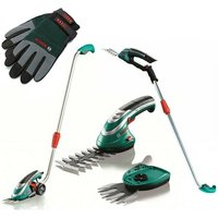Bosch ISIO III Cordless Shrub + Grass Shear Hedge Cutter Multi Tool Set + Handle