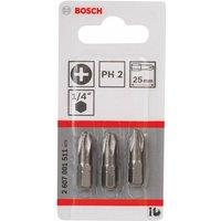 2607001511 PH2 3-PC Extra Hard 25MM Driver Bits - Bosch