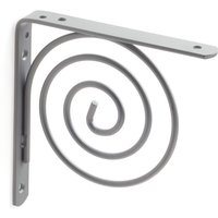 Box with 6 youthful style shelf bracket spiral in matt coated chrome finish - REI