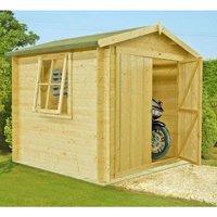 Shire - Bradley Log Cabin Home Office Garden Room Approx 9 x 9 Feet