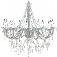 Bram 12-Light Candle Style Chandelier by White - Mercer41