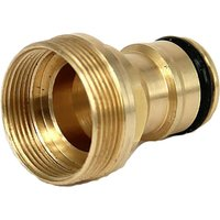 Briday - Brass Basin Connection Water Pipe Garden Hose Faucet Connector-4 Brass Female Thread Faucet Connector for Hose, Threaded Faucet Adapter