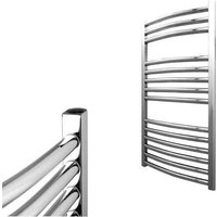 BRAY Curved Towel Warmer / Heated Towel Rail Radiator, Chrome - Central Heating, 50cm x 80cm - SOL*AIRE HEATING PRODUCTS