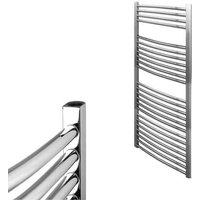 BRAY Curved Towel Warmer / Heated Towel Rail Radiator, Chrome - Central Heating, 60cm x 120cm - SOL*AIRE HEATING PRODUCTS