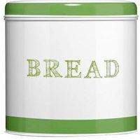 Bread bin,green band,galvanised steel - BIG LIVING