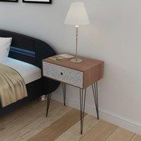 Brennon 1 Drawer Bedside Table by Brayden Studio - Brown