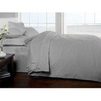 Brighton Hill 100% Egyptian Cotton Double Silver Duvet Cover Soft 200TC Bedding - RAPPORT