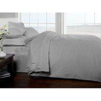 Brighton Hill 100% Egyptian Cotton Single Silver Duvet Cover Soft 200TC Bedding