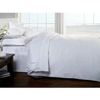 Brighton Hill Egyptian Cotton Single Bed White Duvet/Quilt Cover, White