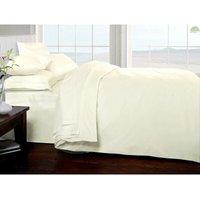 Brighton Hill Egyptian Cotton Super King Size Bed Cream Duvet/Quilt Cover, Cream