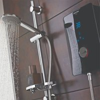 Bliss Electric Shower, 9.5kw, Black - Bristan