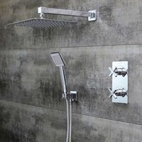 Casino Dual Concealed Mixer Shower with Shower Kit + Fixed Head - Bristan
