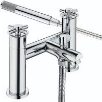 Decade Bath Shower Mixer Tap Pillar Mounted - Chrome - Bristan