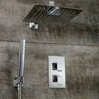 Descent Dual Concealed Mixer Shower with Shower Kit + Fixed Head - Bristan