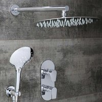 Hourglass Dual Concealed Mixer Shower with Shower Kit + Fixed Head - Bristan