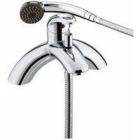 Java Chrome Mono Bath Shower Mixer Tap - J-SLPBSM-C - Bristan