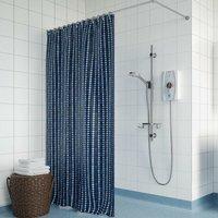 Joy Care Kit Handle Dial 8.5kW Electric Shower - White - Bristan