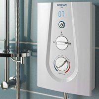 Joy Thermostatic Electric Shower, White, 9.5kW - Bristan