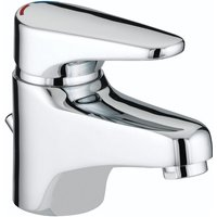 Jute Basin Mixer Tap with Eco Click and Pop Up Waste - Chrome - Bristan